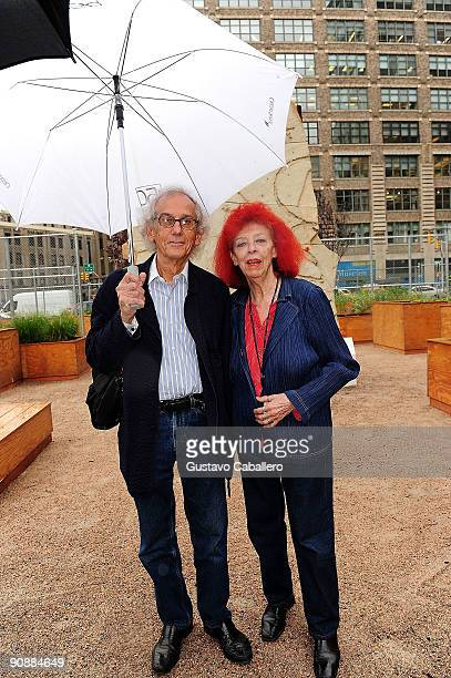 JeanneClaude and Christo attends the opening of the Lower Manhattan Cultural Council's LentSpace on September 17 2009 in New York City