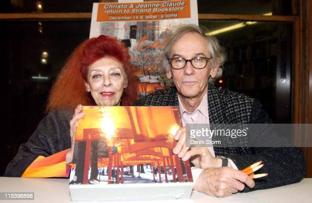 JeanneClaude and Christo during Christo and JeanneClaude Sign Their Book The Gates Central Park New York City 19792005 at The Strand in New York City...