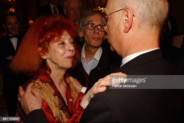 JeanneClaude Christo and Klaus Schwab attend Transatlantic Bridge Award Gala honoring Klaus Schwab at The Pierre on February 24 2005 in New York City