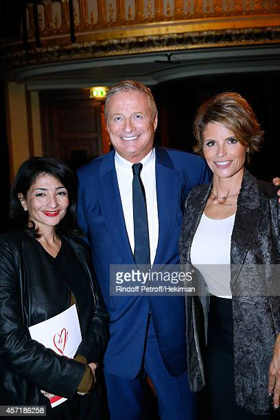 Jeannette Bougrab Christian CourtinClarins and his wife Karine attend the 17th Clarins Award for Energizing woman 2014 Held at Opera Comique on...