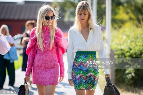 Jeannette Madsen Linda Tol is seen outside By Malene Birger during the Copenhagen Fashion Week Spring/Summer 2019 on August 9 2018 in Copenhagen...
