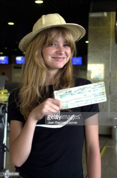 Jeannette Prinsloo from South Africa with her plane ticket