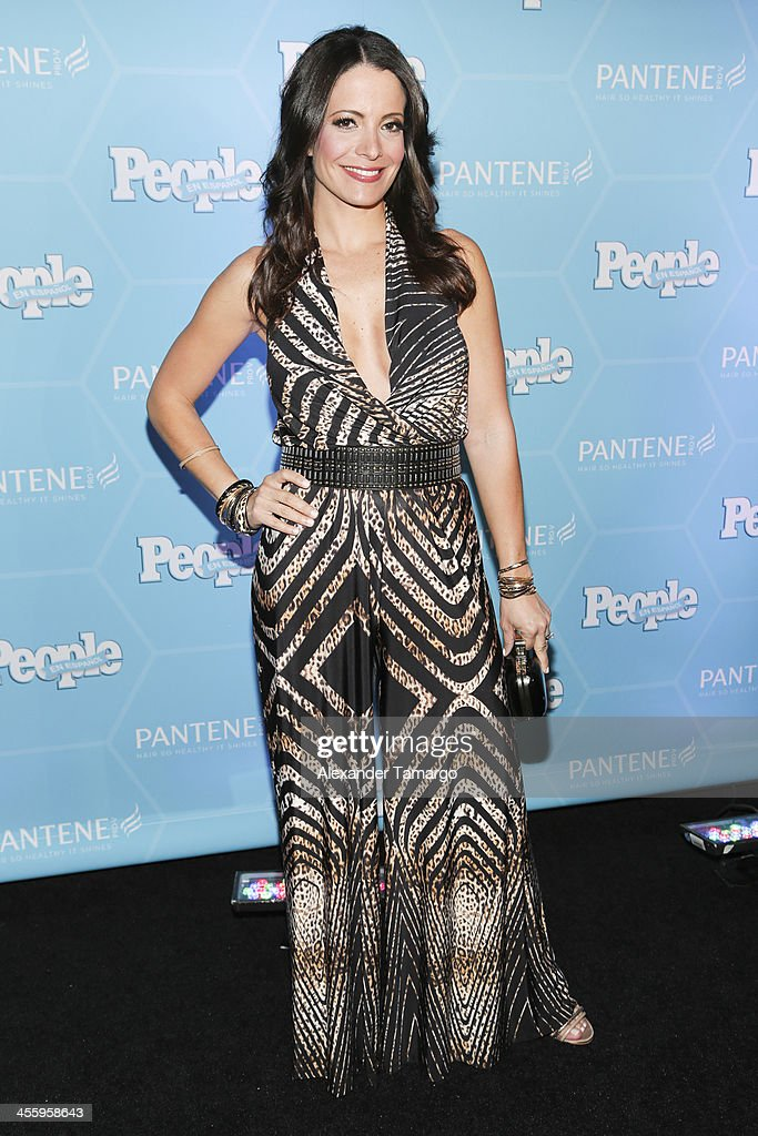 Jeannette Torres arrives at the Estrellas Del Ano De People En Espanol party at The James Royal Palm Hotel on December 12, 2013 in Miami, Florida.