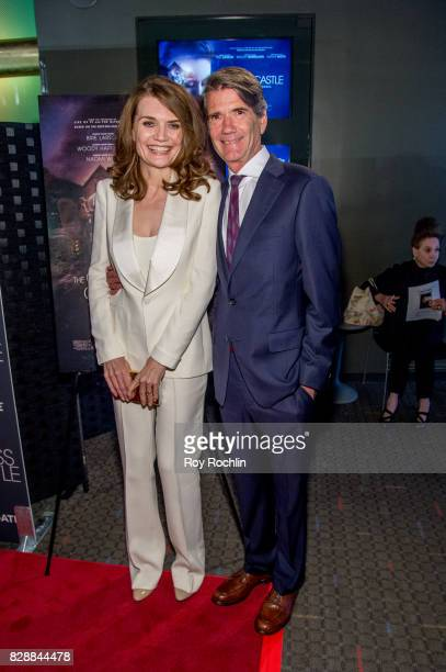 Jeannette Walls and John Taylor attend The Glass Castle New York screening at SVA Theatre on August 9 2017 in New York City
