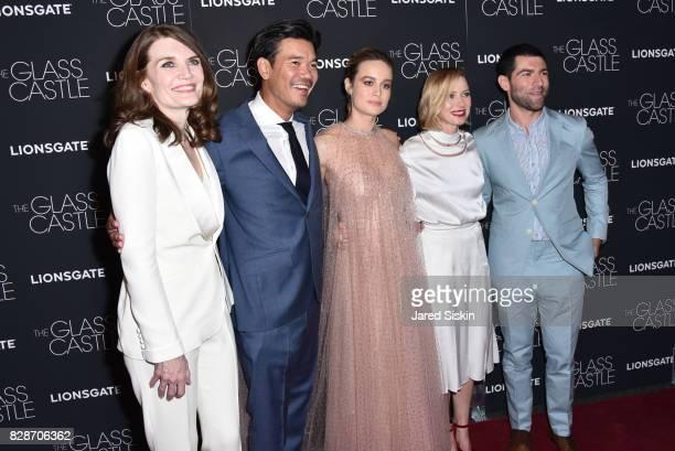 Jeannette Walls Destin Daniel Cretton Brie Larson Naomi Watts and Max Greenfield attend The Glass Castle New York Screening at SVA Theatre on August...