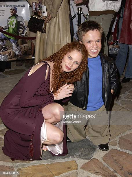 Jeannette Weegar Mikey Post during Black Knight Premiere at Mann Village Theatre in Westwood California United States
