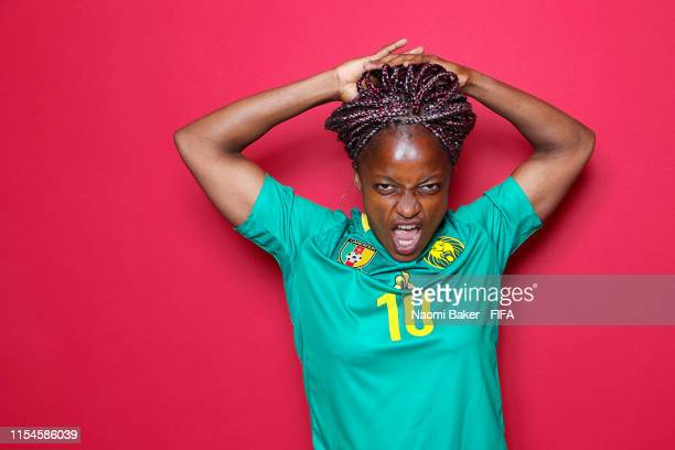 Jeannette Yango of Cameroon poses for a portrait during the official FIFA Women's World Cup 2019 portrait session at Crowne Plaza Montpellier Corum...
