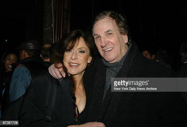 "Jeannie Berlin and Danny Aiello are present for the opening-night party for the play ""Adult Entertainment"" at Cafe Deville in the East Village. They..."