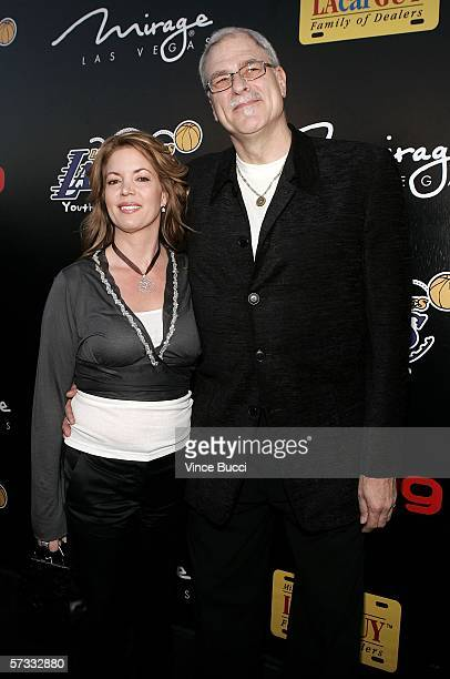 Jeannie Buss and Lakers coach Phil Jackson arrive at the Los Angeles Lakers 3rd annual Mirage Las Vegas Casino Night and Bodog Celebrity Poker...
