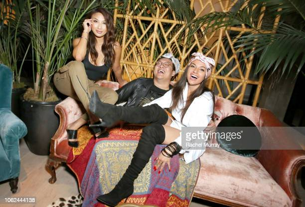 Jeannie Mai and Inanna Sarkis attend the launch of NowWith presented by Yahoo Lifestyle and Working Sundays celebrating the series launch of Nicole...