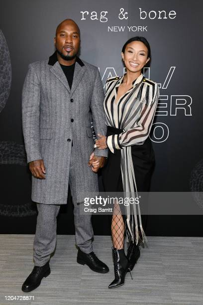 Jeannie Mai and Jeezy attends rag & bone Fall/Winter 2020 at Skylight on Vesey on February 07, 2020 in New York City.