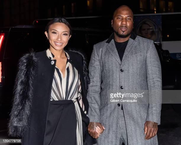 Jeannie Mai and Rapper Jeezy are seen arriving to the Rag & Bone fashion show during New York Fashion Week on February 07, 2020 in New York City.