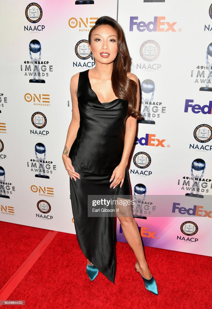 Jeannie Mai at the 49th NAACP Image Awards Non-Televised Awards Dinner at the Pasadena Conference Center on January 14, 2018 in Pasadena, California.