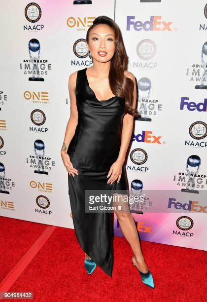 Jeannie Mai at the 49th NAACP Image Awards NonTelevised Awards Dinner at the Pasadena Conference Center on January 14 2018 in Pasadena California