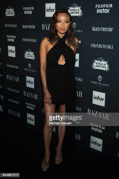 Jeannie Mai attends 2017 Harper's Bazaar Icons at The Plaza Hotel on September 8 2017 in New York City
