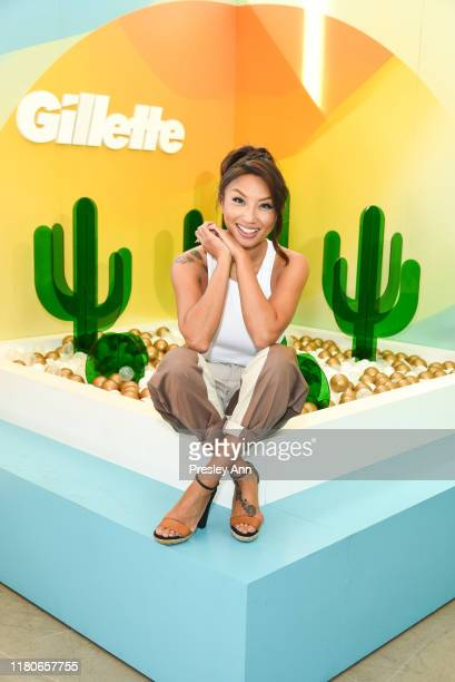 Jeannie Mai attends Amazon's Treasure Truck Electric Beauty Pop Up Experience with Jeannie Mai at The Americana at Brand on October 12 2019 in...