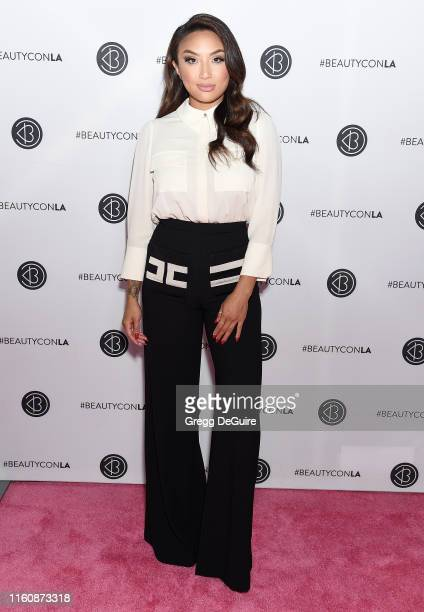 Jeannie Mai attends Beautycon Los Angeles 2019 Pink Carpet at Los Angeles Convention Center on August 10, 2019 in Los Angeles, California.