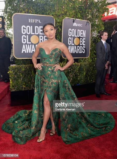 Jeannie Mai attends FIJI Water at the 76th Annual Golden Globe Awards on January 6, 2019 at the Beverly Hilton in Los Angeles, California.