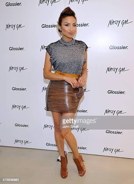 Jeannie Mai attends Glossier Pop-Up Shop at Nasty Gal Santa Monica on June 4, 2015 in Santa Monica, California.