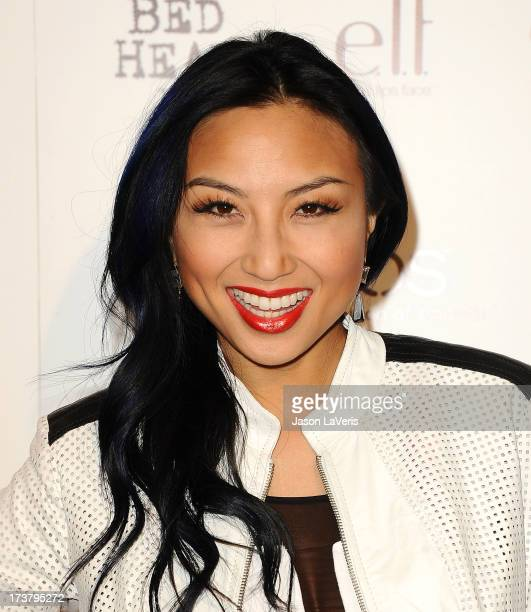 Jeannie Mai attends OK Magazine's annual 'So Sexy' party at SkyBar at the Mondrian Los Angeles on April 17 2013 in West Hollywood California