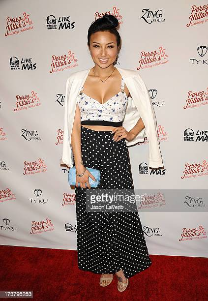 Jeannie Mai attends Perez Hilton's 35th birthday party at El Rey Theatre on March 23 2013 in Los Angeles California