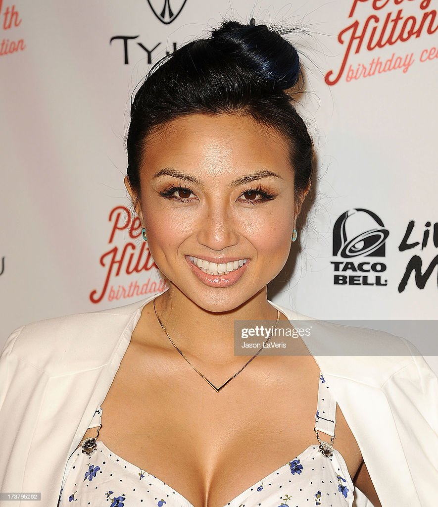 Jeannie Mai attends Perez Hilton's 35th birthday party at El Rey Theatre on March 23, 2013 in Los Angeles, California.