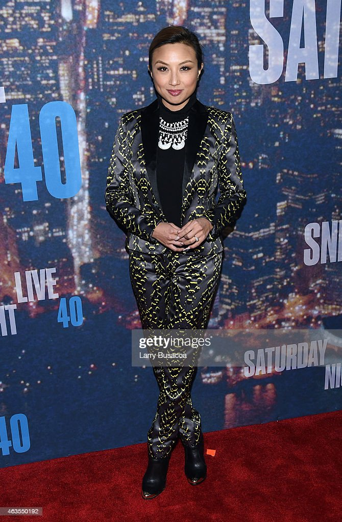 Jeannie Mai attends SNL 40th Anniversary Celebration at Rockefeller Plaza on February 15, 2015 in New York City.