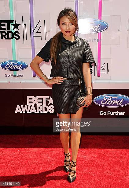 Jeannie Mai attends the 2014 BET Awards at Nokia Plaza LA LIVE on June 29 2014 in Los Angeles California