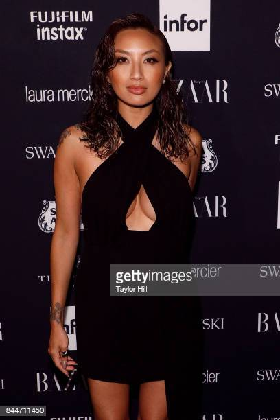 Jeannie Mai attends the 2017 Harper ICONS party at The Plaza Hotel on September 8 2017 in New York City