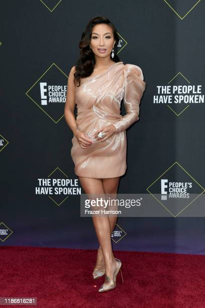 Jeannie Mai attends the 2019 E People's Choice Awards at Barker Hangar on November 10 2019 in Santa Monica California