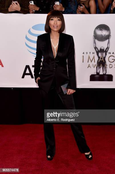 Jeannie Mai attends the 49th NAACP Image Awards at Pasadena Civic Auditorium on January 15 2018 in Pasadena California
