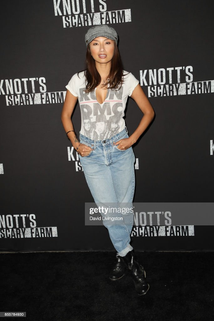 Jeannie Mai attends the Knott's Scary Farm and Instagram's Celebrity Night at Knott's Berry Farm on September 29, 2017 in Buena Park, California.