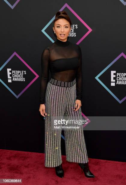 Jeannie Mai attends the People's Choice Awards 2018 at Barker Hangar on November 11 2018 in Santa Monica California