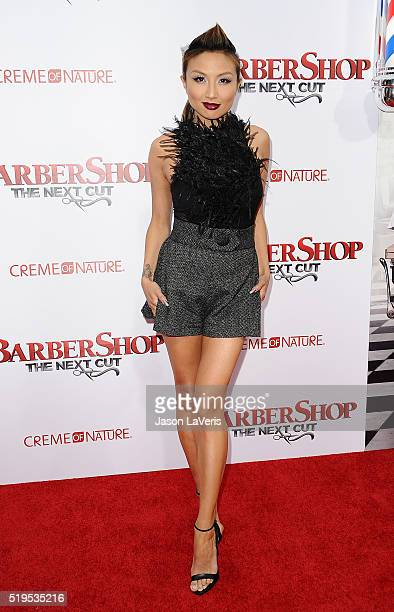 Jeannie Mai attends the premiere of 'Barbershop The Next Cut' at TCL Chinese Theatre on April 6 2016 in Hollywood California