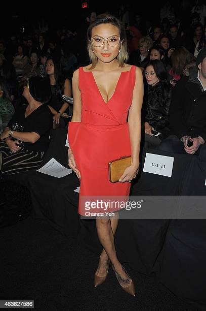 Jeannie Mai attends the Vivienne Tam Fashion Show during MercedesBenz Fashion Week Fall 2015 at The Theatre at Lincoln Center on February 16 2015 in...