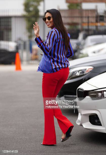 """Jeannie Mai is seen arriving for """"Dancing With The Stars"""" Season 29 rehearsals on September 08, 2020 in Los Angeles, California."""