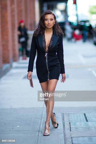 Jeannie Mai is seen in Chelsea on September 9 2017 in New York City
