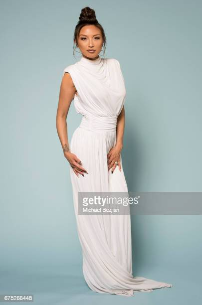 Jeannie Mai poses for a portrait at 'Portraits by The Artists Project Sponsored by Foster Grant on' during the 44th Daytime Emmy Awards on April 30...
