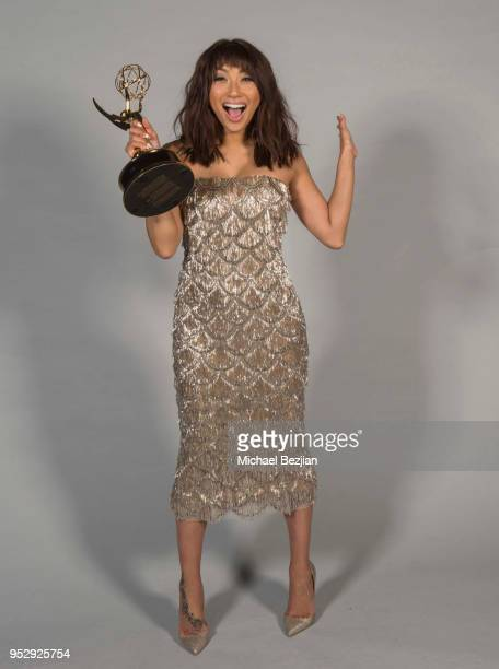 Jeannie Mai poses for portrait at 45th Daytime Emmy Awards Portraits by The Artists Project Sponsored by the Visual Snow Initiative on April 29 2018...