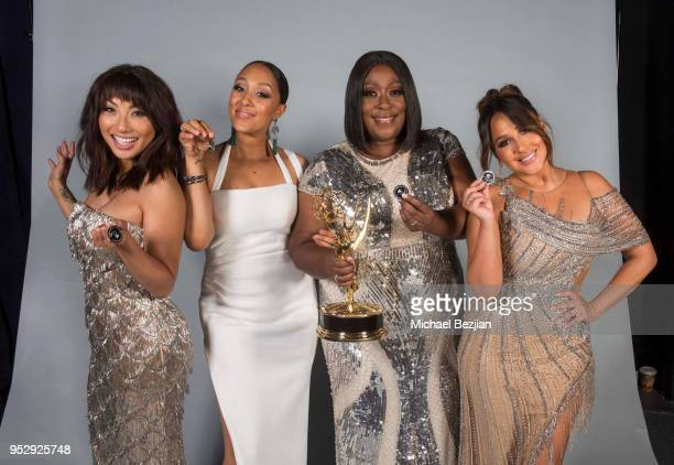 Jeannie Mai Tamera Mowry Loni Love and Adrienne Bailon pose for portrait at 45th Daytime Emmy Awards Portraits by The Artists Project Sponsored by...