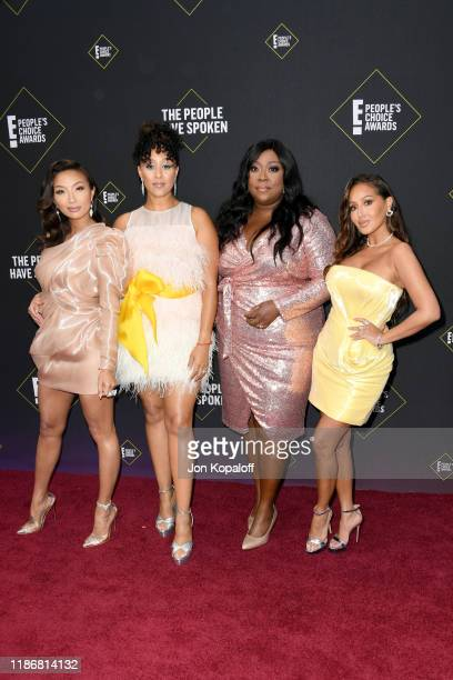Jeannie Mai Tamera MowryHousley Loni Love and Adrienne Houghton attends the 2019 E People's Choice Awards at Barker Hangar on November 10 2019 in...