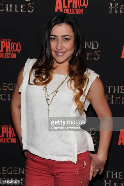 Jeannie Ortega attends the The Legend Of Hercules premiere at the Crosby Street Hotel on January 6 2014 in New York City