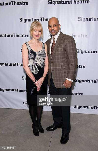 Jeannie Santiago and Actor Ruben SantiagoHudson attend How I Learned What I Learned opening night at Signature Theatre Company's The Pershing Square...