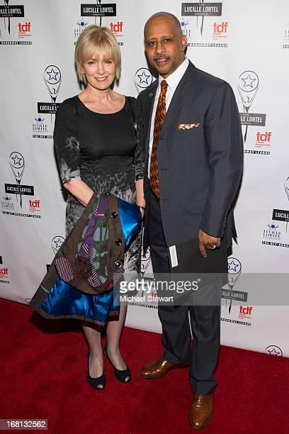 Jeannie Santiago and actor Ruben SantiagoHudson attend the 2013 Lucille Lortel Awards at Jack H Skirball Center for the Performing Arts on May 5 2013...