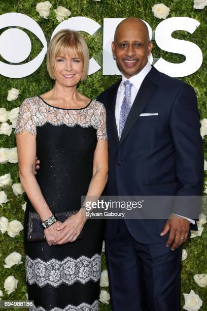 Jeannie Santiago and actor Ruben SantiagoHudson attend the 2017 Tony Awards at Radio City Music Hall on June 11 2017 in New York City
