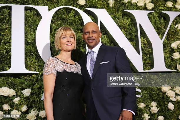 Jeannie Santiago and Ruben SantiagoHudson attend the 2017 Tony Awards at Radio City Music Hall on June 11 2017 in New York City