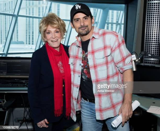 Jeannie Seely and Brad Paisley Visit SiriusXM Nashville at SiriusXM Studios on November 7 2018 in Nashville Tennessee