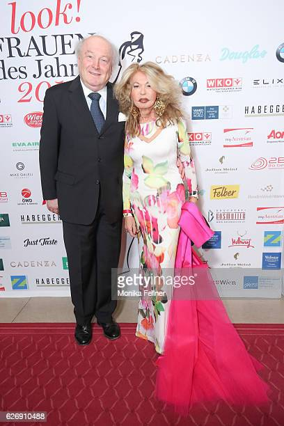Jeannine and Friedrich Schiller attend the Look Women of the Year Awards at City Hall on November 30 2016 in Vienna Austria
