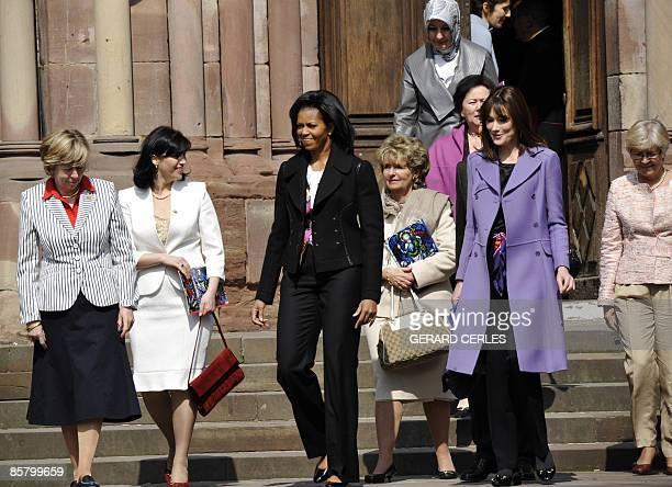 Jeannine de Hoop Scheffer Bianca Balkenende Michelle Obama wife of Jean Claude Juncker Christiane Frising Hayrunisa Gul Liri Berisha French First...