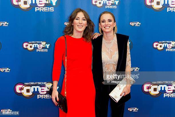 Jeannine Michaelsen and Annie Hoffmann attend the 20th Annual German Comedy Awards at Coloneum on October 25, 2016 in Cologne, Germany.